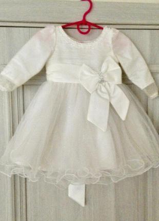 Нарядное платье next с фатиновой юбкой,снежинка