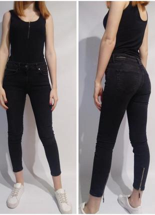 Темно-серые джинсы zara