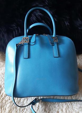 Женская сумка сафьяновая кожа оригинал coccinelle кочинелли