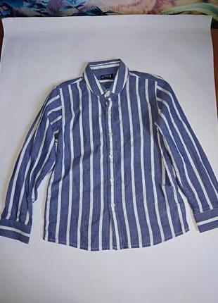 Стильная рубашка на мальчика 6 лет,100% хлопок,next