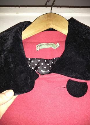 Красное пальто трапецией, можно для беременных