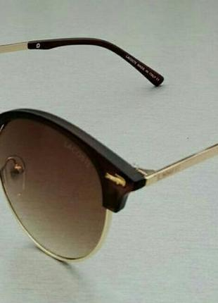 Lacoste очки женские солнцезащитные круглые коричневые на небольшое лицо
