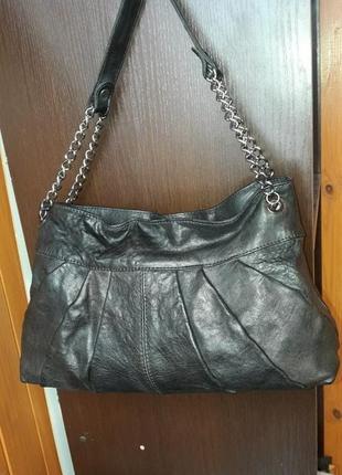 Фирменная кожаная сумка minelli оригинал