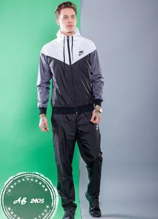 e89c74710d72 Мужской спортивный костюм кофта на молнии с капюшоном+штаны плащевка