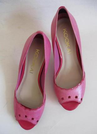 Туфли с открытым носком kookai, натуральная кожа