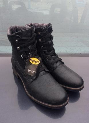 Женские ботинки dockers combat boots