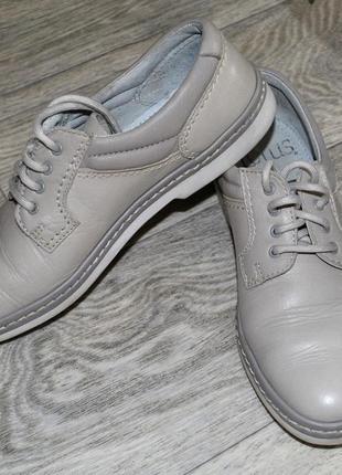 Туфли серые кожаные португалия унисекс 39 ru 40 eu демисезон