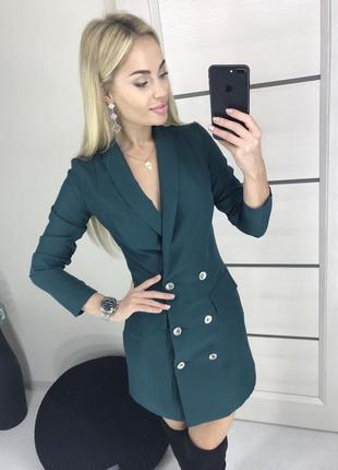 Платье пиджак офисное деловое длинный рукав футляр s m l 44 46