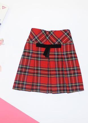 Приятная юбка трапеция в клетку на 3-4 года1 фото