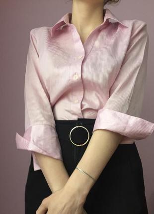 Офисная рубашка в полоску с интересными рукавами