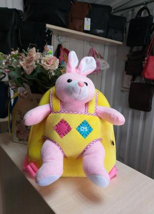 Детский рюкзак+игрушка зайка
