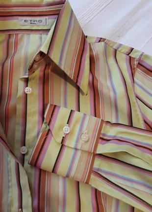 Etro milano италия оригинал! люкс бренд новая рубашка#сорочка#блуза#блузка в полоску.