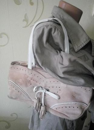 Coccinelle .100% кожа замша . замшевая сумочка сумка