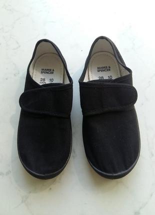 Удобные тапочки туфельки кеды marks&spenser 27 размер