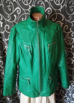 073c6f7edf4 Кожаная куртка курточка в новом состоянии экокожа