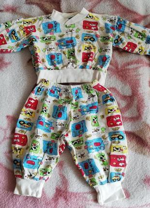 Пижама байковая на годик