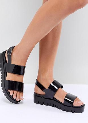 Силиконовые босоножки сандалии на платформе асос asos