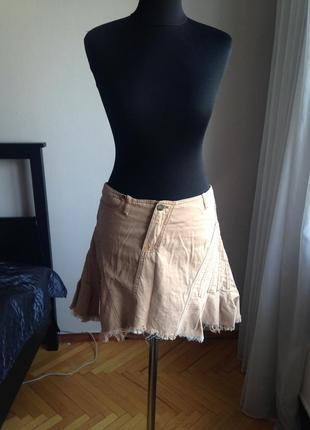 Юбка джинсовая ассиметричная plein sud винтаж