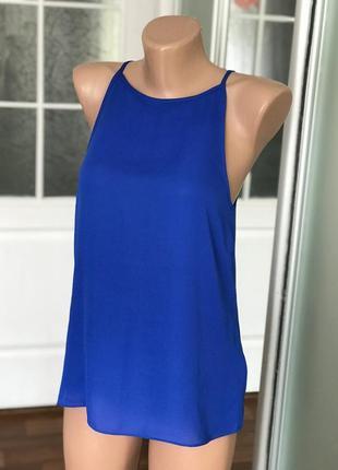 Красивая маечка майка синего цвета warehouse