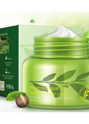 Освежающий восстанавливающий крем для лица rorec green tea с экстрактом зеленого чая 50 мл