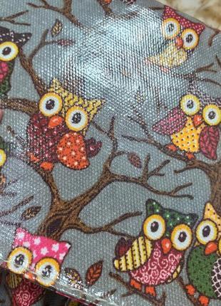 Сумка портфель с плечевым ремнём в принт совы5 фото