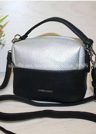 Клатч, сумка через плечо 7232-1 серебро