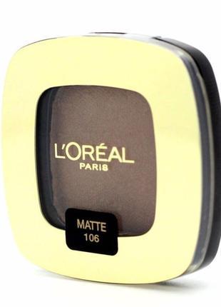 Матовые тени для век и бровей l'oreal 106 matte eyeshadow