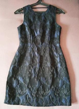 Маленькое черно-синее платье h&m
