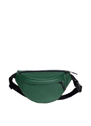 Зелёная женская сумочка на пояс, плече с экокожи банака на каждый день