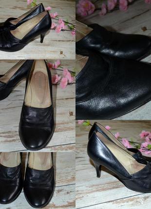 Туфли черные лодочка, классические туфли 26 см