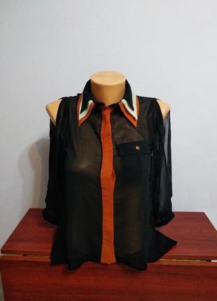 Шифонова блузка з оригінальним рукавом