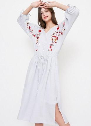 Платье хлопок вышиванка бренд vero moda