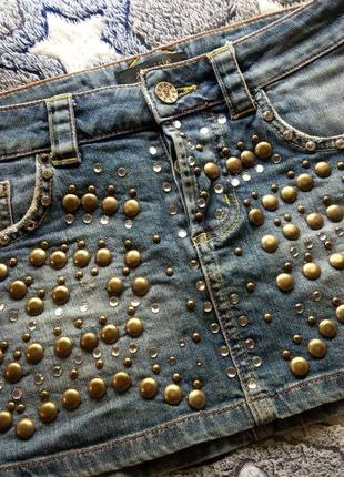 Amnesia юбка джинсовая