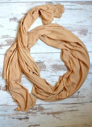 Телесный шарф, длинный платок  235х100 см