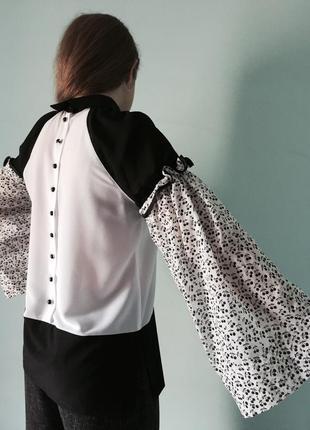 "Блузка-вишиванка ""вишеньки"" в стилі еклектика2 фото"