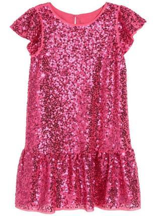 Платье с паетками на 3-4 года