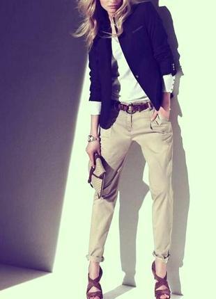 Стильные бежевые брюки mango, размер s