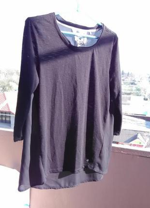 Крутая блузка с шифоновой спинкой