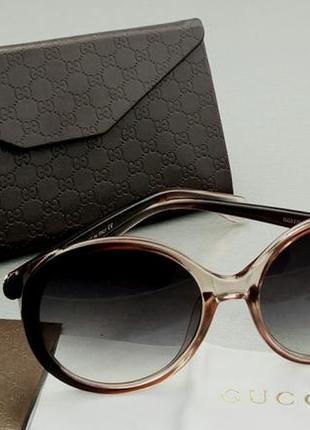 Gucci очки женские солнцезащитные круглые