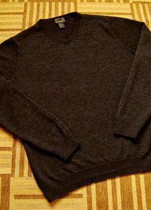 H&m, 100% шерсть мериноса, пуловер, кофта, размер l.