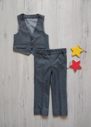 2-3 года, комплект жилет + брюки m&s.