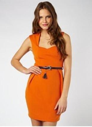 Яркое неопреновое платье lipsy, размер 6 (см. замеры)