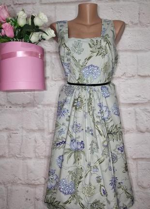 Платье миди коттоновоепышная юбка р 14 joe browns