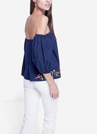 Женская блуза футболка топ с открытыми плечами stradivarius2 фото