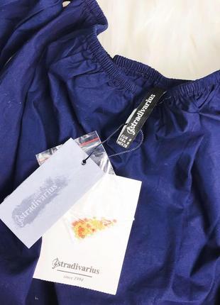 Женская блуза футболка топ с открытыми плечами stradivarius7 фото
