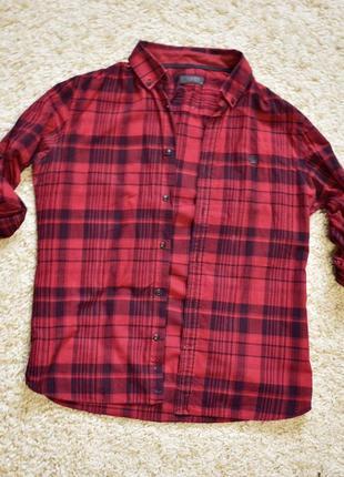 Рубашка красная в клетку colin`s
