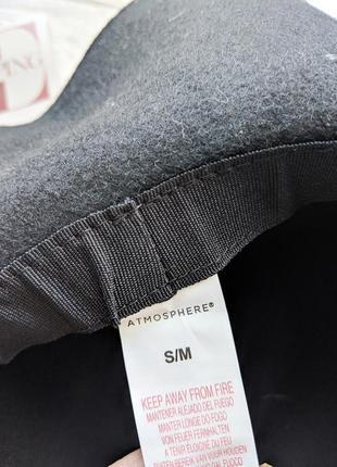 Черная фетровая шляпа шляпка с широкими полями4