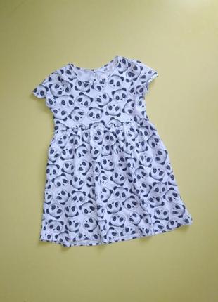 Платье с пандами h&m р. 116 на 5-6 лет