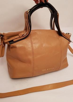 Ted baker! англия! шикарная брендовая кожаная сумка