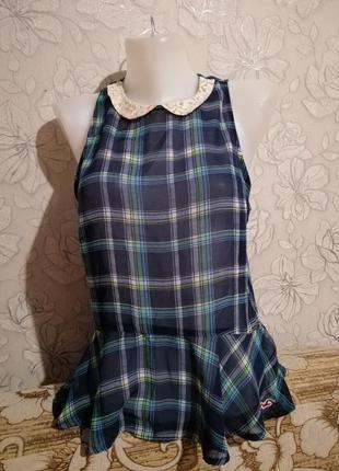 Лёгкая летняя шифоновая майка блуза